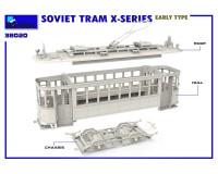 Сборная модель MiniArt Советский трамвай серии Х раннего типа 1:35 (MA38020)