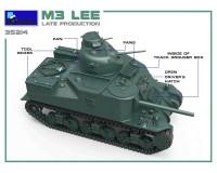 Сборная модель MiniArt Американский средний танк M3 Lee поздних выпусков 1:35 (MA35214)