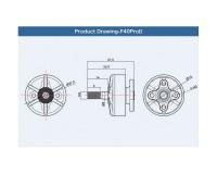 Мотор T-Motor F40 PRO II 2306 2400KV для мультикоптеров (серый)