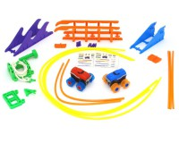 Машинки на бат. Trix Trux набор 2 машинки с трассой (красная+синяя)