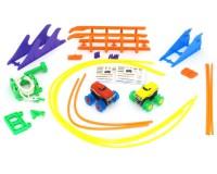 Машинки на бат. Trix Trux набор 2 машинки с трассой (красная+желтая)