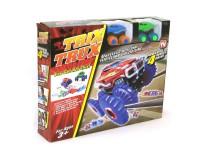 Машинки на бат. Trix Trux набор 2 машинки с трассой (синяя+зеленая)