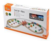 Деревянная железная дорога Viga Toys 39 деталей (50266)