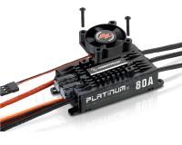 Бесколлекторный регулятор хода HOBBYWING PLATINUM PRO V4 80A 3-6S для авиамоделей