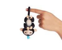 Интерактивная ручная обезьянка на батарейках Happy Monkey (чёрная)