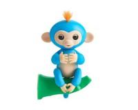 Интерактивная ручная обезьянка на батарейках Happy Monkey (синяя)