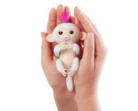 Интерактивная ручная обезьянка на батарейках Happy Monkey (белая)