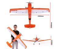 Самолет Dynam Cessna 188 Orange 1500mm SRTF (GAVIN-6A) со стабилизацией