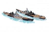 Сборная модель Звезда американский линкор «Айова» 1:1200