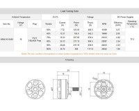 Мотор T-Motor AIR40 2205 2450KV 3-4S для мультикоптеров (синий)