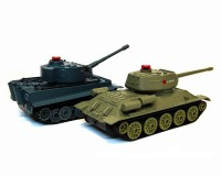 Танковый бой HuanQi 555 Tiger vs Т-34 1:32