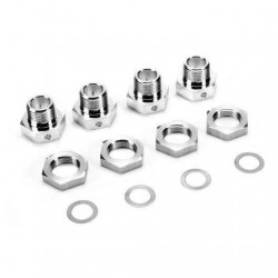 Гайки Team Magic B8 Wheel Lock Nut Long (4шт)