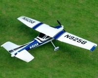 Самолет TOP-RC Cessna 182 RTF 1410 мм 6CH (синий) с симулятором и закрылками