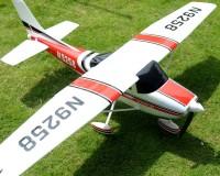 Самолет TOP-RC Cessna 182 RTF 1410 мм 6CH (красный) с симулятором и закрылками