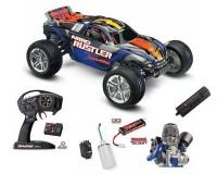 Трагги Traxxas Rustler 2,5 Nitro Stadium Truck 1:10 RTR 2WD 2,4 ГГц TSM, Blue