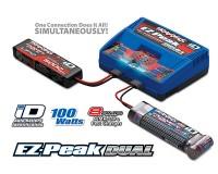 Зарядное устройство Traxxas Charger DUAL EZ-Peak Plus ID двухпортовое