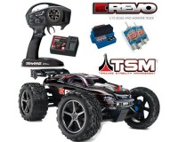 Автомобиль Traxxas E-Revo Monster 1:10 RTR 582 мм 4WD 2,4 ГГц со стабилизацией TSM (56036-4 Black)