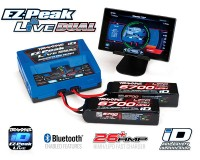Комплект Traxxas EZ-Peak Live Dual iD 100-240В 26А 200Вт 2973 + 2 шт LiPo 14.8В 6700мАч 4S 25C 2890X (2997)