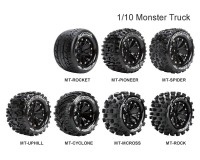 Колесо 1/10 Monster Louise MT-UPHILL Soft (14mm) Black (2шт.)