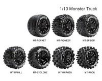 Колесо 1/10 Monster Louise MT-CYCLONE Soft (14mm) Black (2шт.)