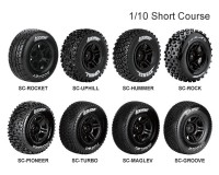 Колесо 1/10 Short Course Louise SC-HUMMER (12mm) Soft Black (2шт.)