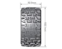 Колесо 1/10 Truggy Louise ST-PIONEER Soft (14mm) Black (2шт.)
