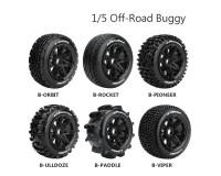 Колесо 1/5 Buggy Louise B-ULLDOZE (Rear) Black (2шт.)