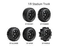 Колесо 1/8 Stadium Truck Louise ST-PIONEER Black (2шт.)