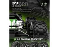 Колесо 1/8 Stadium Truck Louise ST-MCROSS (MFT) (1/2 Offset) Black (2шт.)