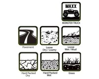 Колесо 1/8 Traxxas MAXX Louise MT-PIONEER (MFT) Soft Black (1/2 Offset) (2шт.)