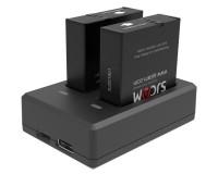 Зарядное устройство SJCam на два аккумулятора для камер SJ9 Strike