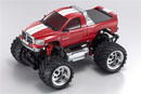 MINI-Z Monster Dodge RAM 1500,  электро, красная, L=170мм (Kyosho, 30091MR)