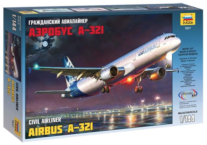 Сборная модель Звезда самолет «Аэробус А-321» 1:144