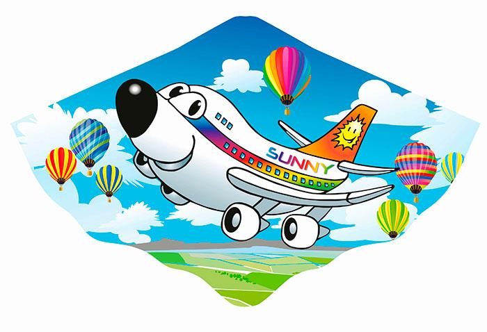 Аэробус Солнышко - Детский воздушный змей