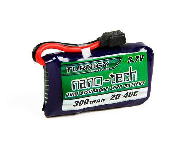 Аккумулятор Turnigy 3.7V 300mAh 1S 20~40C Lipo, Nano-Tech (для Hubsan X4/X6, Walkera, Losi)