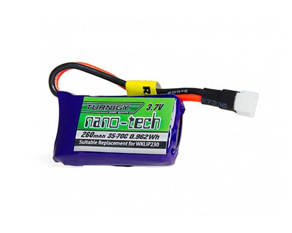 Аккумулятор Turnigy Lipo 3.7V 260mAh 1S 35-70C nano-tech (А plug)