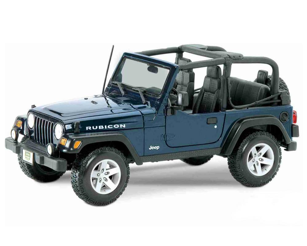 Коллекционный автомобиль Maisto Jeep Wrangler Rubicon 1:27 синий