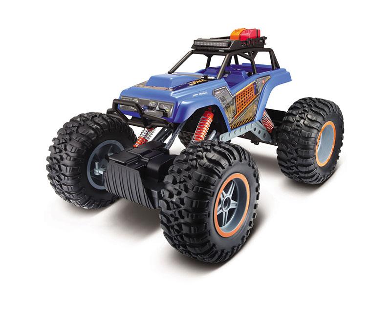 Автомобиль на радиоуправлении Maisto Rock Crawler 3XL (голубой)