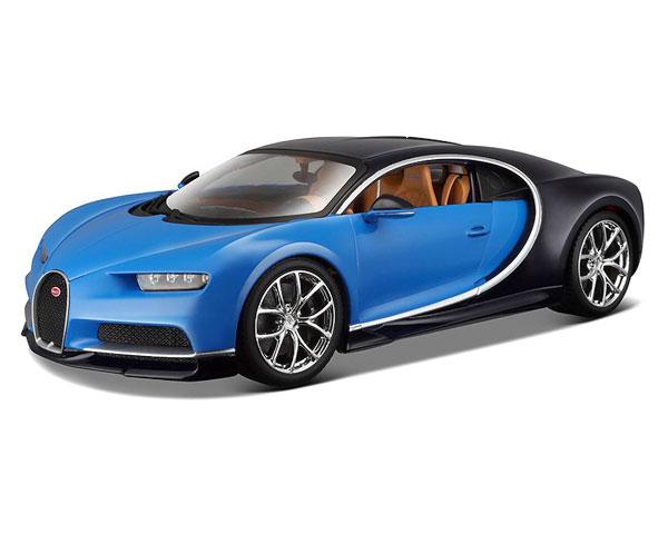 Коллекционный автомобиль Maisto Bugatti Chiron 1:24 (синий металлик)