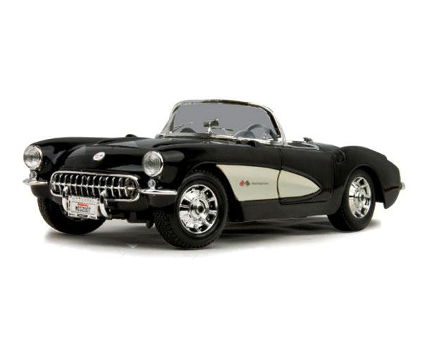 Коллекционный автомобиль Maisto Chevrolet Corvette 1957 1:24 (чёрный)