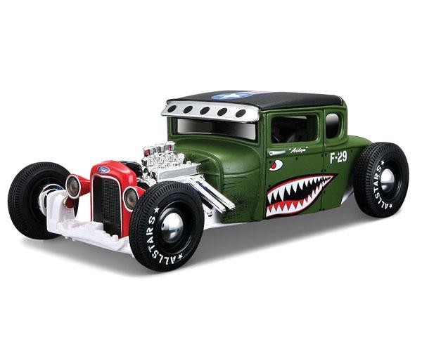 Коллекционный автомобиль Maisto Ford Model A тюнинг 1:24 (зелёный)