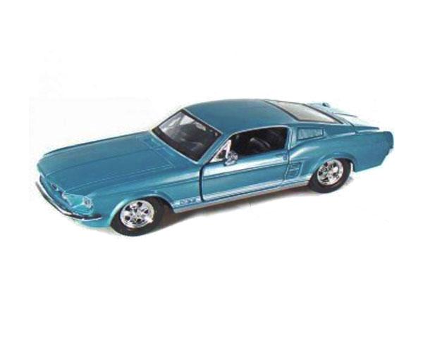 Коллекционный автомобиль Maisto Ford Mustang GT 1967 1:24 (синий металлик)