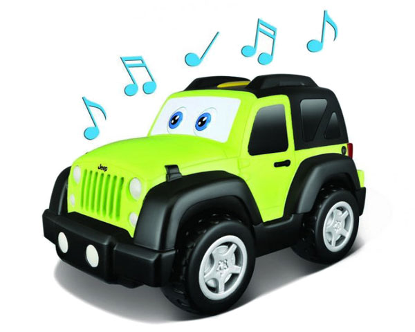 Автомодель BB Junior Jeep Wrangler (звук, глаза и движение)