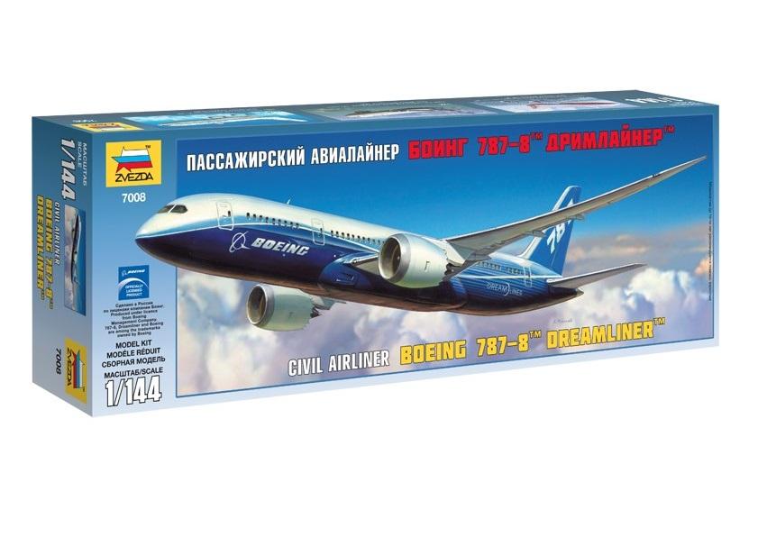 Сборная модель Звезда пассажирский авиалайнер Боинг «787-8» Дримлайнер 1:144