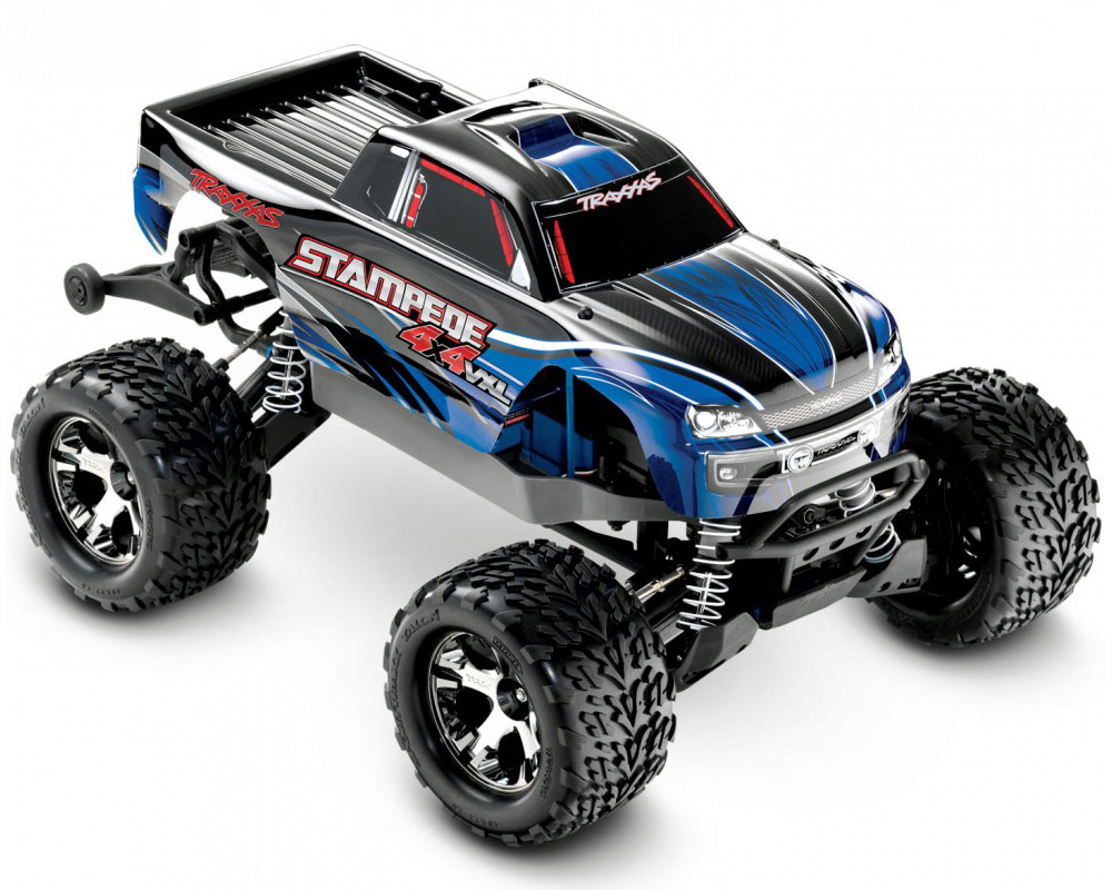 Автомобиль Traxxas Stampede Brushless Monster 1:10 RTR 500 мм 4WD 2,4 ГГц (67086-3 Blue)