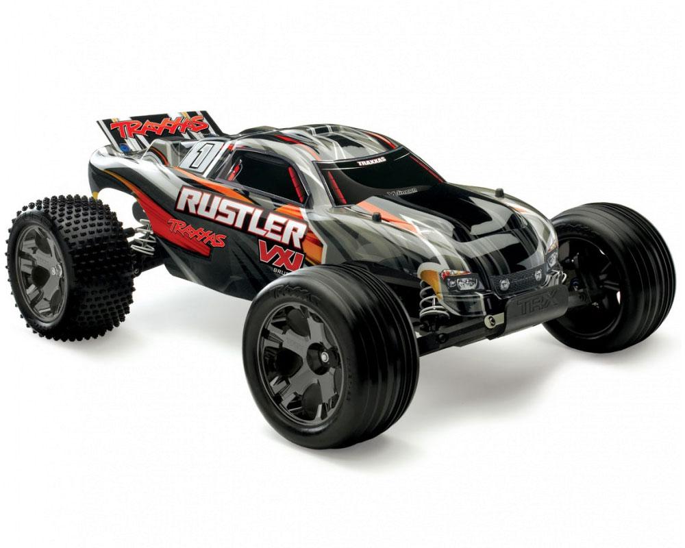 Автомобиль Traxxas Rustler VLX Brushless Stadium Truck 1:10 RTR 445 мм 2WD 2,4 ГГц (37076-3 HWN)
