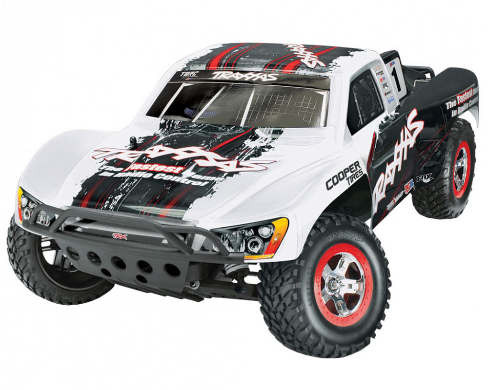 Автомобиль Traxxas Slash VXL LCG 1:10 RTR 568 мм 2WD TSM OBA 2,4 ГГц (58076-21 White)