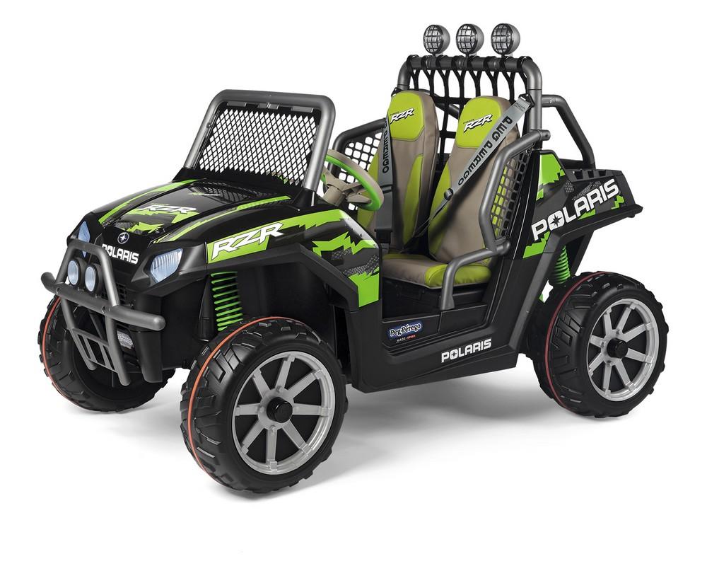 Двухместный детский электромобиль Peg-Perego Polaris Ranger RZR Green Shadow