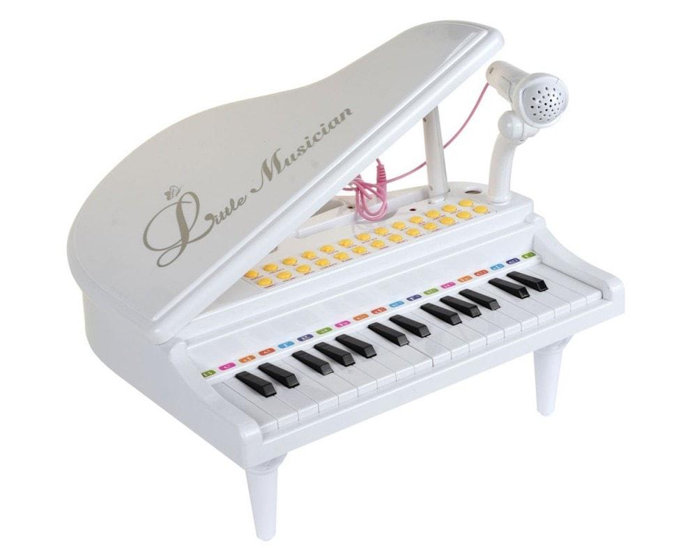 Детское пианино синтезатор Baoli Маленький музыкант с микрофоном 31 клавиша (белый)