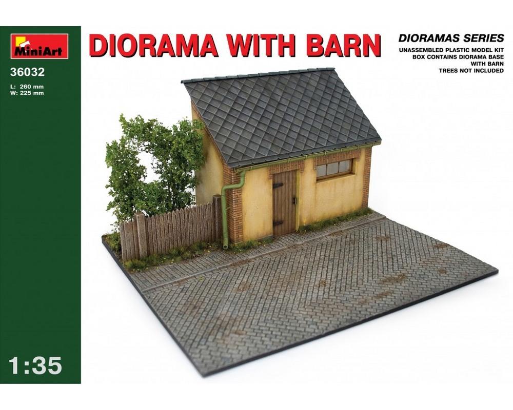 Сборная модель MiniArt Диорама с сараем 1:35 (MA36032)